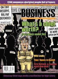 Aboriginal Business Magazine - Winter/Spring 2011