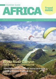 Tourism Guide Africa Travel Guide June - September 2017 Edition