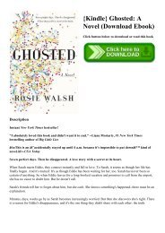 {Kindle} Ghosted A Novel (Download Ebook)
