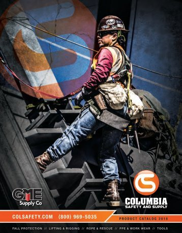 Columbia Safety And Supply Catalog Version 2018