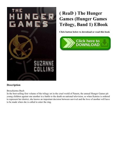 Read The Hunger Games Hunger Games Trilogy Band 1 Ebook