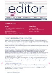 The Canberra editor August 2018