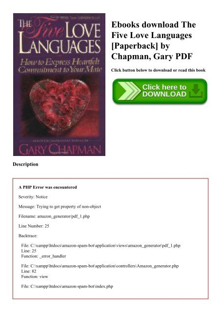 Languages love the pdf five The five