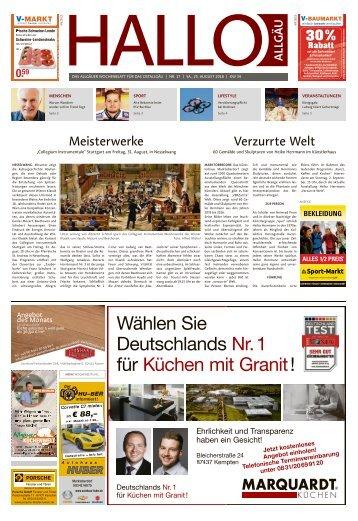 Hallo-Allgäu Kaufbeuren, Ostallgäu vom Samstag, 25.August