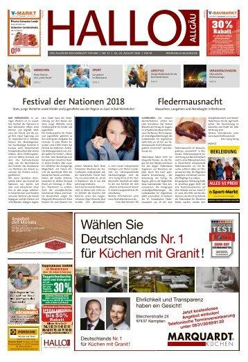 Hallo-Allgäu Memmingen vom Samstag, 25.August