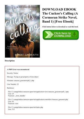DOWNLOAD EBOOK The Cuckoo's Calling (A Cormoran Strike Novel  Band 1) [Free Ebook]