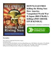 DOWNLOAD FREE Killing the Rising Sun How America Vanquished World War II Japan (Bill O'Reilly's Killing) [PDF EBOOK EPUB KINDLE]