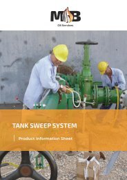 MB Oil Services Non-man Entry Tank Cleaning - Tank Sweep System