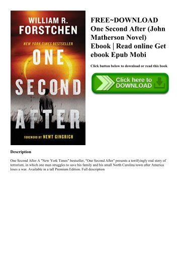Free download one second after by william r. Forstchen ebook.