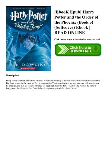 Harry Potter And The Order Of The Phoenix Ebook