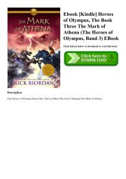 Heroes Of Olympus The Mark Of Athena Epub
