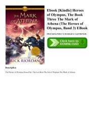 Ebook [Kindle] Heroes of Olympus  The Book Three The Mark of Athena (The Heroes of Olympus  Band 3) EBook