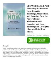 Practicing The Power Of Now Ebook