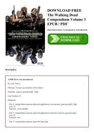 DOWNLOAD FREE The Walking Dead Compendium Volume 3 EPUB  PDF