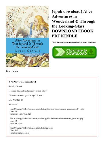 {epub download} Alice Adventures in Wonderland & Through the Looking-Glass DOWNLOAD EBOOK PDF KINDLE