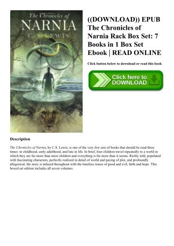 ((DOWNLOAD)) EPUB The Chronicles of Narnia Rack Box Set 7 Books in 1 Box Set Ebook  READ ONLINE