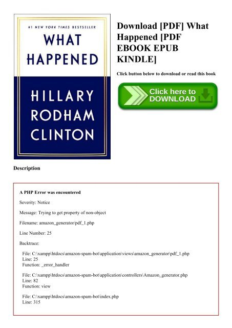 Download [PDF] What Happened [PDF EBOOK EPUB KINDLE]