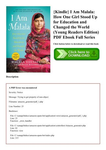 {Kindle} I Am Malala How One Girl Stood Up for Education and Changed the World (Young Readers Edition) PDF Ebook Full Series