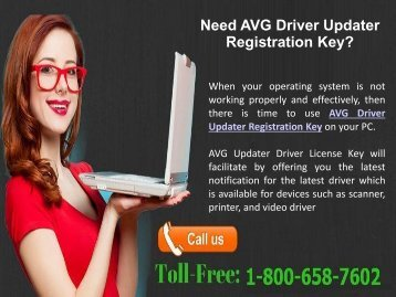 1-800-658-7602 Install AVG Driver Updater with Registration Key