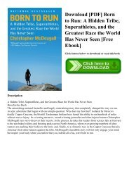 Download [PDF] Born to Run A Hidden Tribe  Superathletes  and the Greatest Race the World Has Never Seen [Free Ebook]