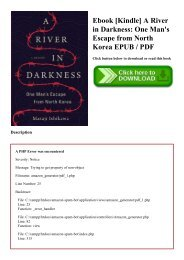 Ebook [Kindle] A River in Darkness One Man's Escape from North Korea EPUB  PDF