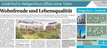 Linderhof in Heiligenhaus öffnet seine Türen  -25.08.2018-