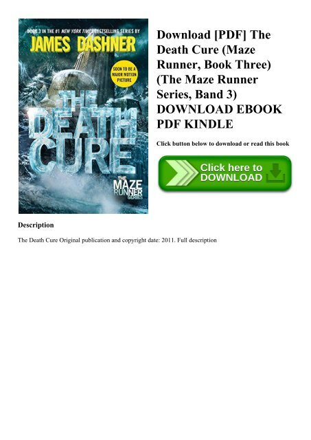 Download [PDF] The Death Cure (Maze Runner Book Three) (The