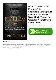 DOWNLOAD FREE Fearless The Undaunted Courage and Ultimate Sacrifice of Navy SEAL Team SIX Operator Adam Brown EPUB  PDF