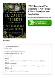 [PDF] Download The Signature of All Things A Novel Download and Read online
