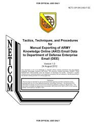 Tactics, Techniques, and Procedures for Manual ... - U.S. Army
