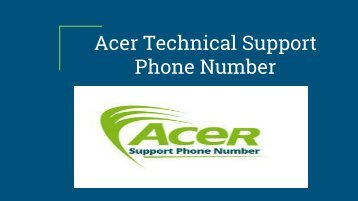 Acer Technical Support Phone Number