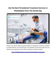 Get the Best Periodontal Treatment Services in Philadelphia from The Dental Spa