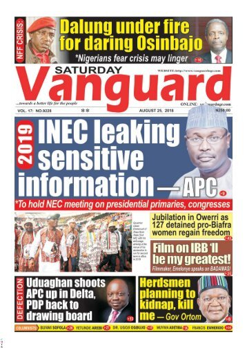 25082018 - 2019: APC accuses INEC of leaking sensitive information