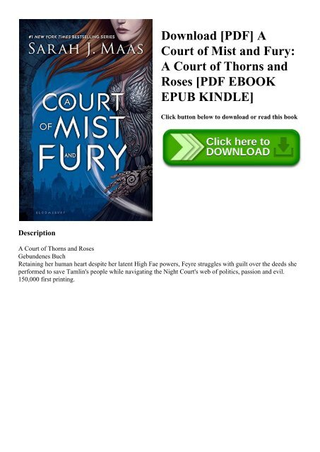 Download Pdf A Court Of Mist And Fury A Court Of Thorns And