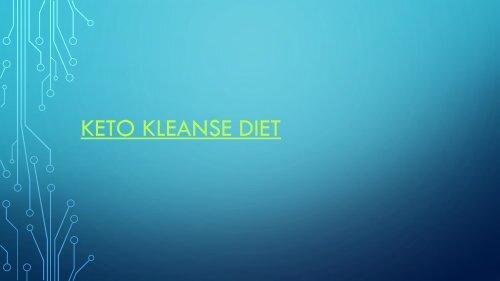 Keto Kleanse Diet