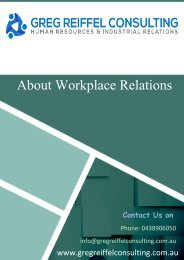 Why it is imperative to hire workplace relations specialist?