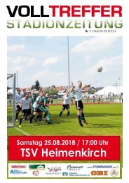 1. Ausgabe Stadionzeitung 2018/19