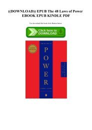 The 48 Laws Of Power Epub