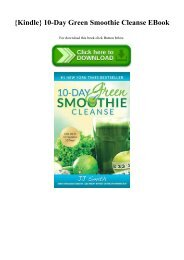 {Kindle} 10-Day Green Smoothie Cleanse EBook