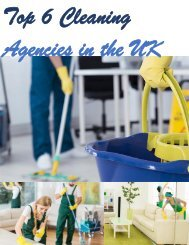 Top 6 Cleaning Agencies in the UK