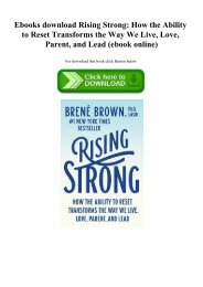 Ebooks download Rising Strong How the Ability to Reset Transforms the Way We Live  Love  Parent  and Lead (ebook online)