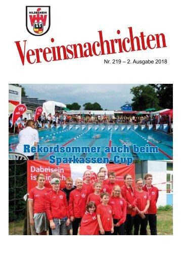 VfV Hildesheim - Vereinszeitung 2/2018