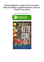 Ebook [Kindle] Dr. Colbert's Keto Zone Diet Burn Fat  Balance Appetite Hormones  and Lose Weight {read online}