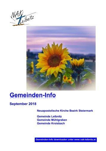 Gemeindeinfo September 2018