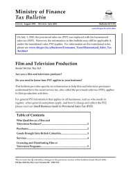 Bulletin SST 076 Film and Television Producers