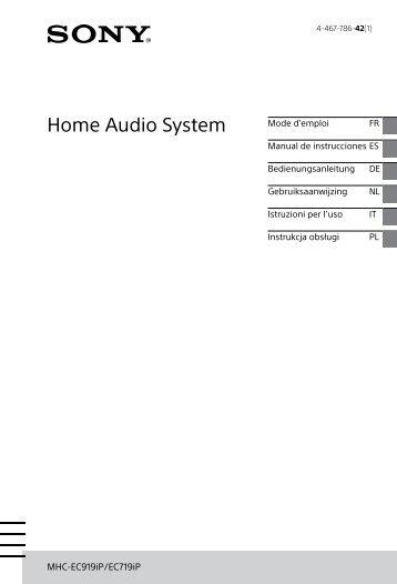 Sony MHC-EC719iP - MHC-EC719IP Istruzioni per l'uso Olandese