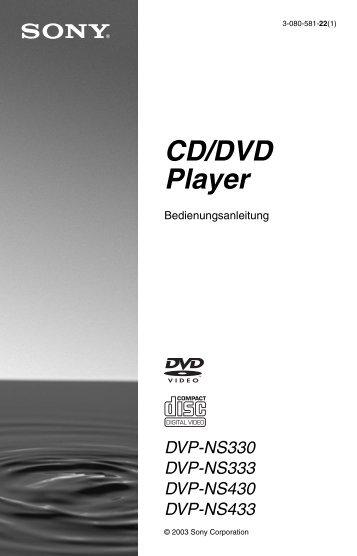 Sony DVP-NS330 - DVP-NS330 Consignes d'utilisation Allemand