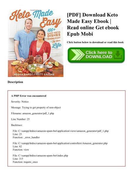 PDF] Download Keto Made Easy Ebook Read online Get ebook
