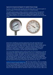 Approach An Experienced Supplier for Quality Pressure Gauge