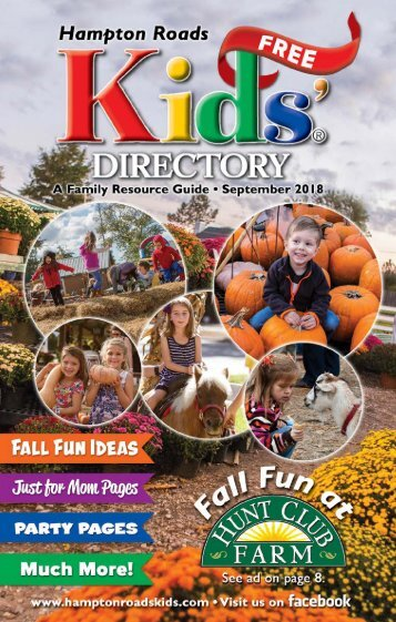 Hampton Roads Kids' Directory: September 2018